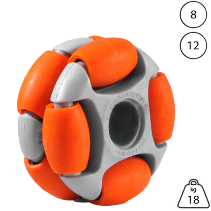 rotacaster-48mm-double-65a-medium-polyurethane-roller-8mm-plain-bore