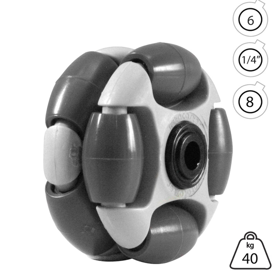 rotacaster-48mm-double-90a-hard-polymer-roller-6mm-acetal-bearing
